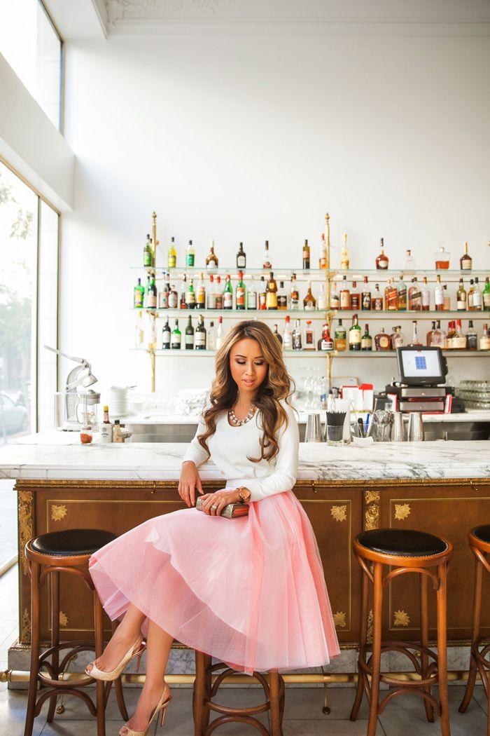 Fashion Blogger Petite Fashion Blog Pink Tulle Skirt