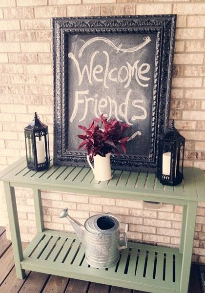 Decorating My Front Porch by Shopping My Back Patio
