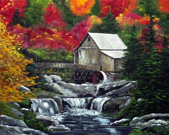 Mountain Streams And Lakes Paintings