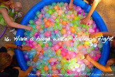 summer bucket list ideas fo