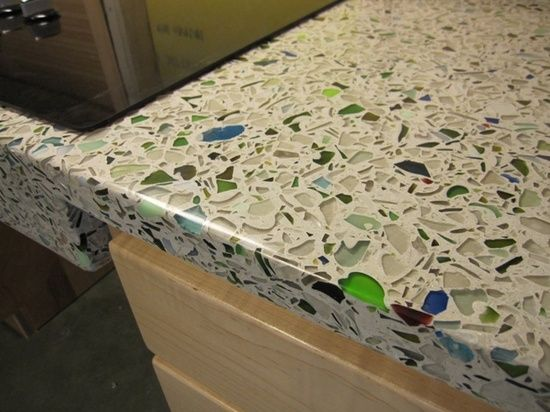 One Of Jasons Next Projects Maybe Broken Glass Concrete Countertop Diy BrainRight Main