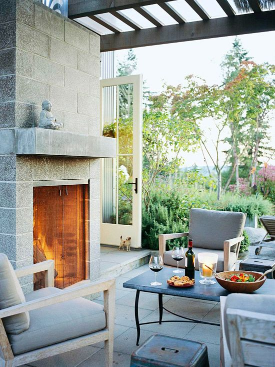 43 best images about block house ideas on Pinterest on Building Outdoor Fireplace With Cinder Block id=93213