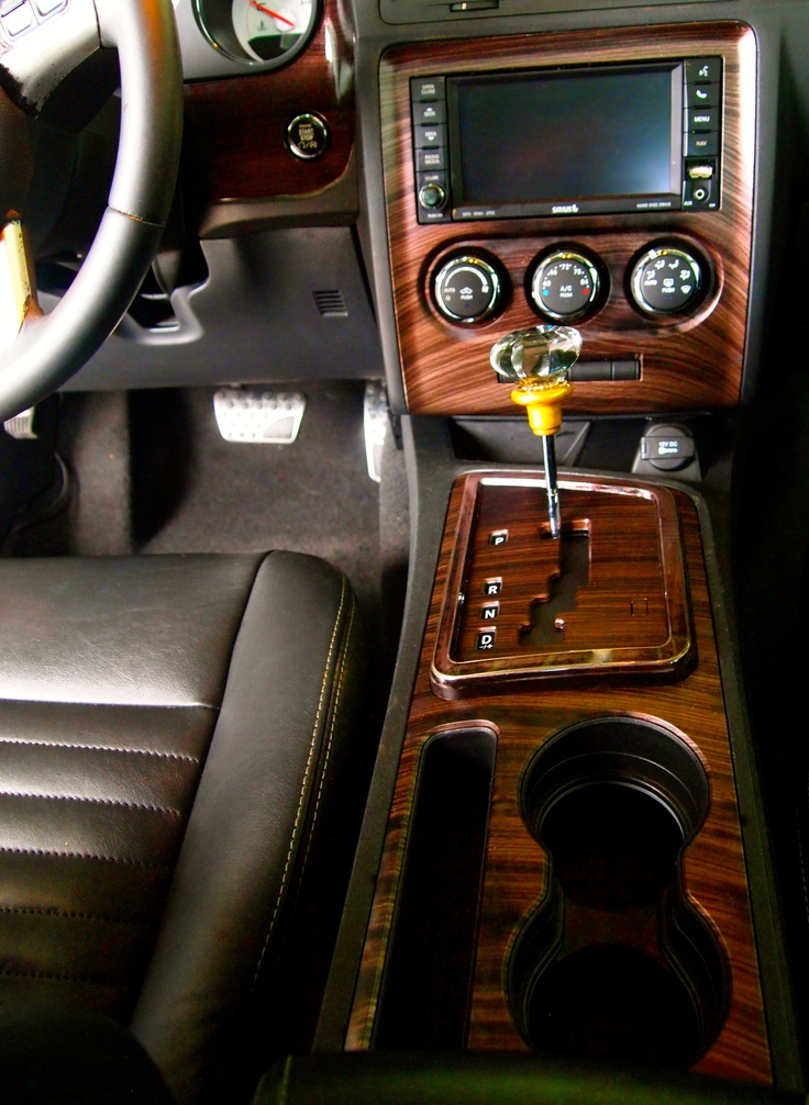 Woodgrain Hydrographic Dipped Dash And Center Stack
