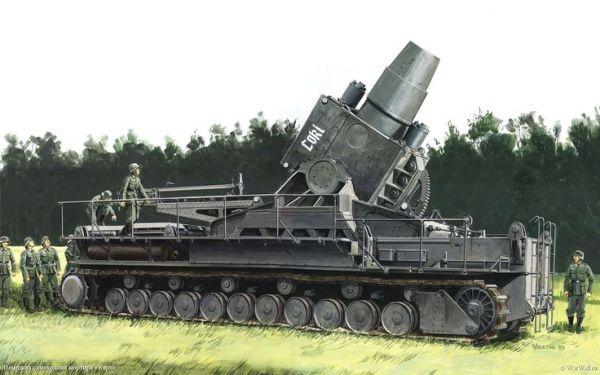 Heavy Siege Gerät 040 an 600mm mortar named Loki . Saw ...