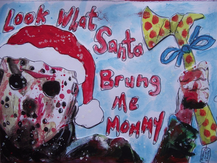 Jason Voorhees Christmas Card Jason Voorhees Pinterest