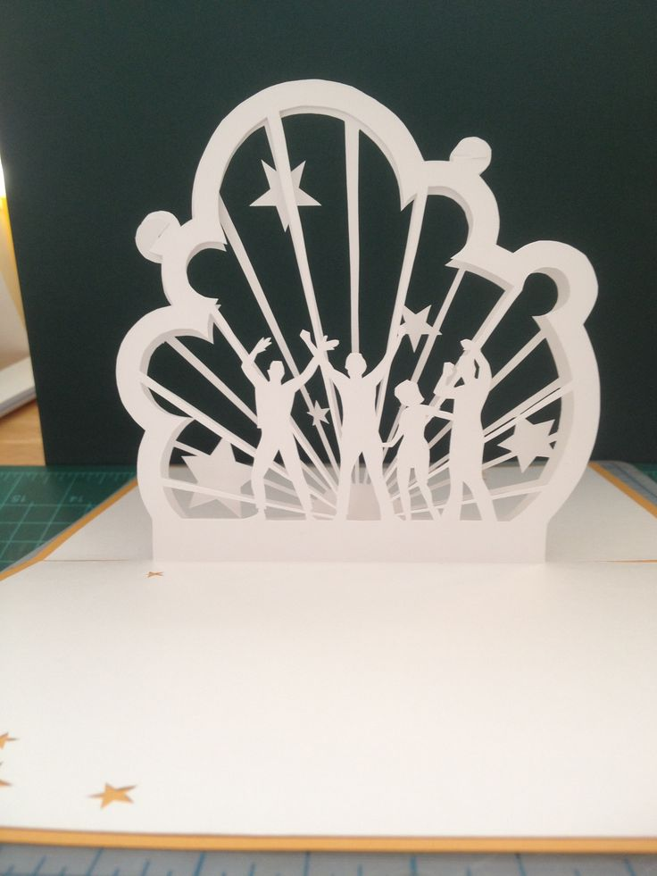 Dance Party Pop Up Card Template From Cahier Kirigami