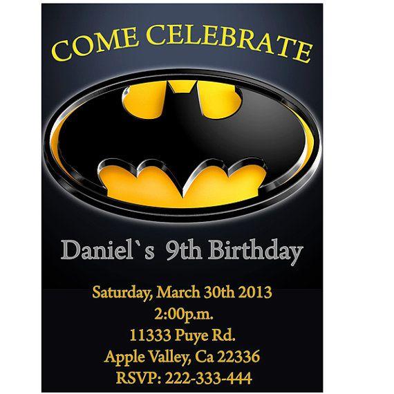 collections of batman birthday invitations