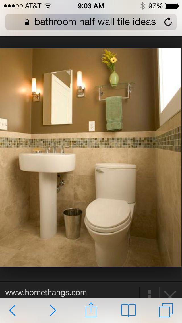 Bathroom Half Wall Tile Ideas For The Home Pinterest
