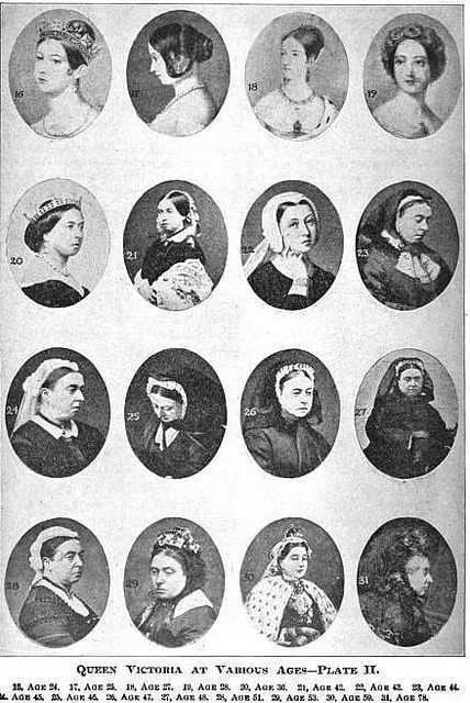 Queen Victoria at Various Ages, you can notice how, after a few slides all she w