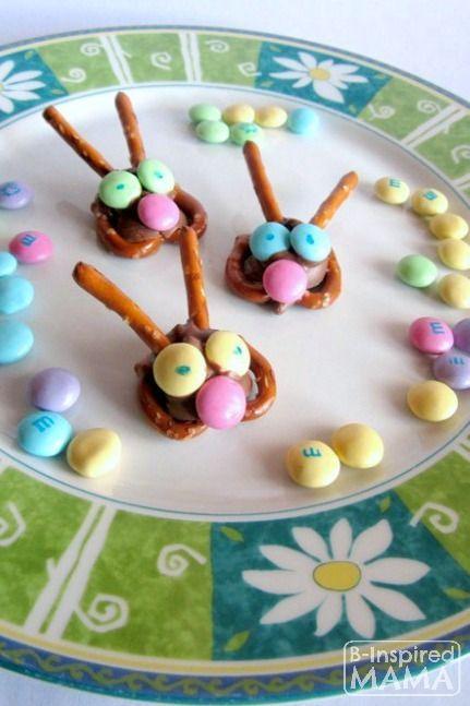 Easy Easter Bunny Pretzel Treats   Gardens, The o'jays and ...