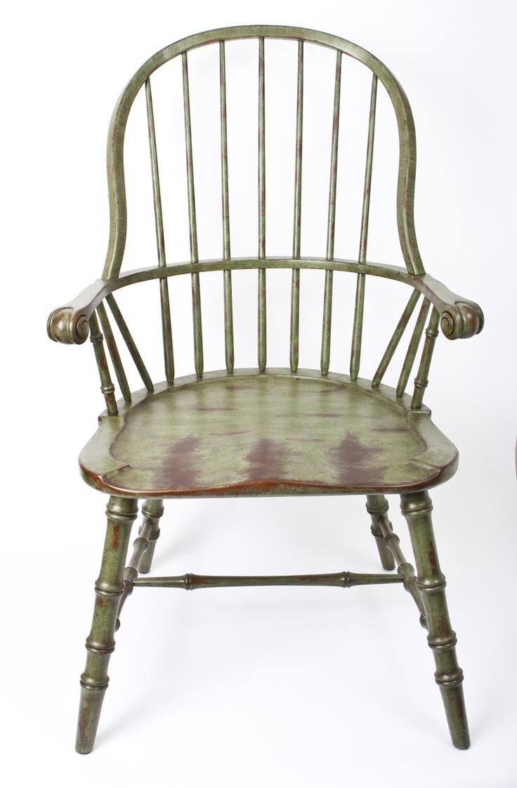 Green Distressed Windsor Chair Fine Furnishings