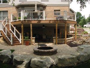 17+ best images about New Walkout Basement Patio and Deck ... on Walkout Basement Patio Designs id=87642