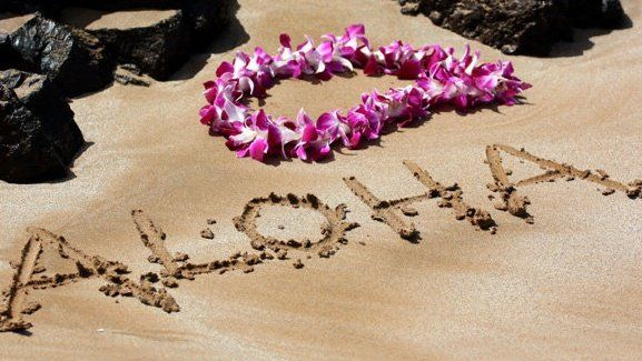 aloha-in-sand-with-lei.jpg (577×325)