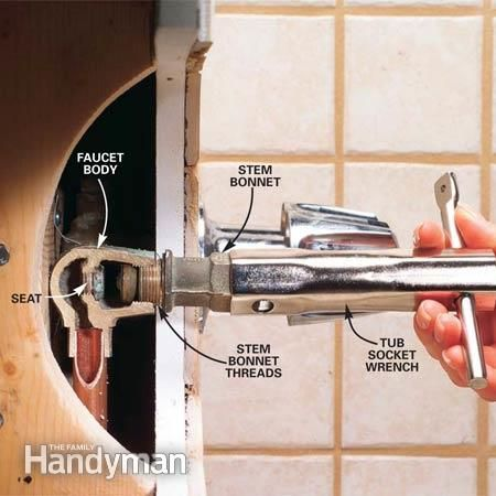How To Repair A Leaking Tub Faucet Faucets Tubs And