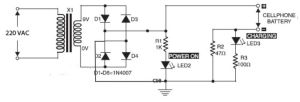 Phone Battery Charger Circuit | Electronic schematics