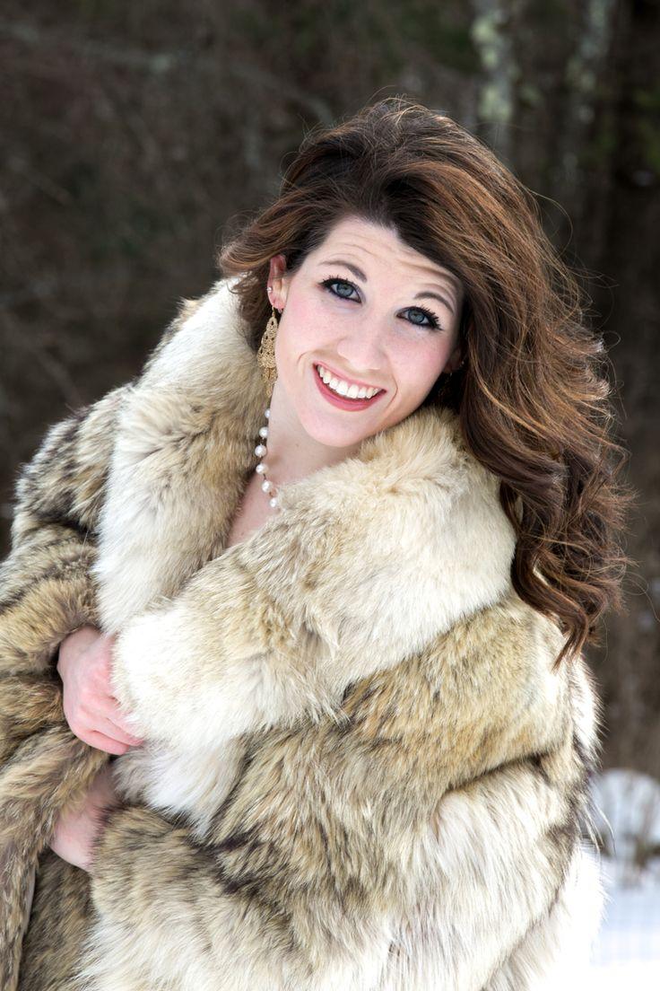 Winter Photo Shoot Outdoor Fur Self Portrait Portraits