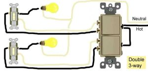 Double 3way switch wiring   Electricity three way