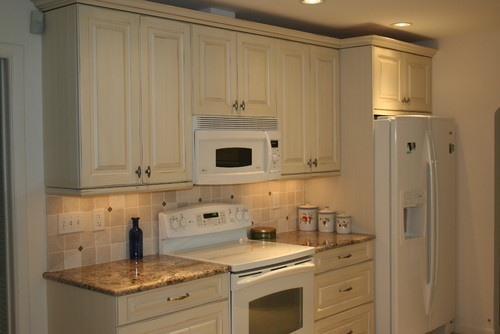 17 Best Images About White Appliance Dark Cabinets On