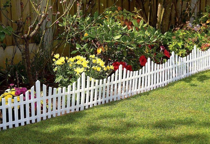 Short Picket Fence For Front Flower Bed