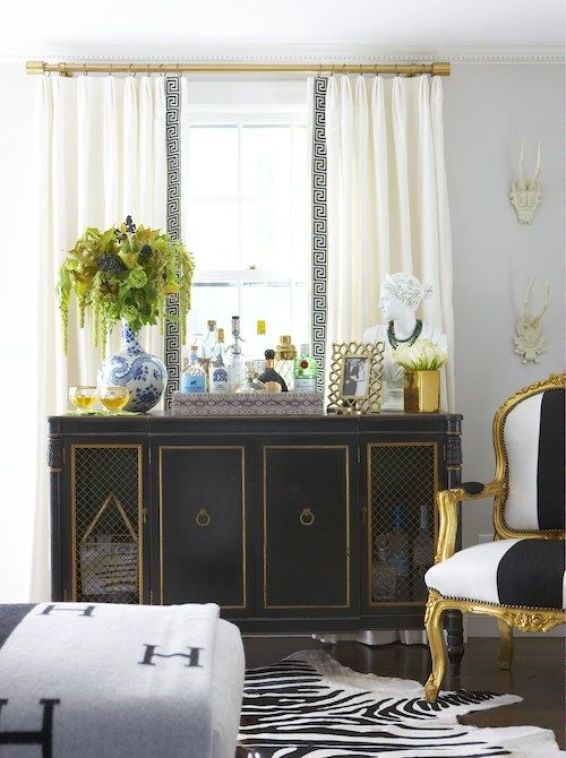 Styled by Duchy. Home of Elements of Style Blog | A Black and Blue Room | http://www.elementsofstyleblog.com: