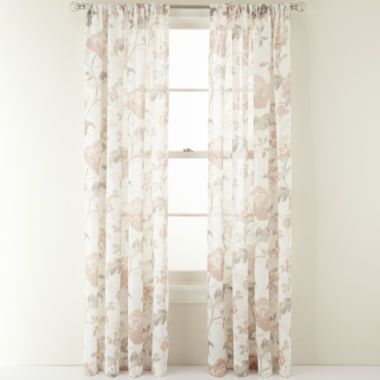 MarthaWindow Faded Floral Rod Pocket Sheer Panel Found At JCPenney Decorating Ideas