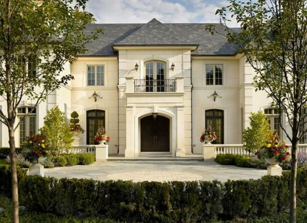 Exterior done in Valder stone and stucco | French Chateau ...