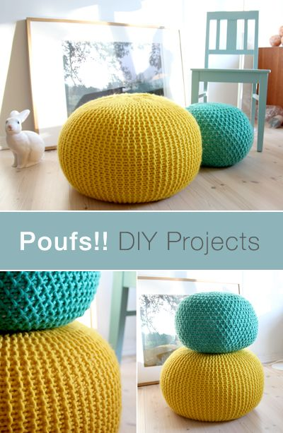 Poufs are a multi-functional and stylish addition to any room in the house. Make your own for less with the help of this DIY pouf