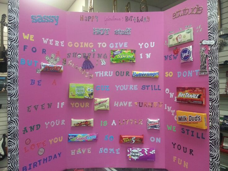 Bff Birthday Candy Poster Made It Pinterest