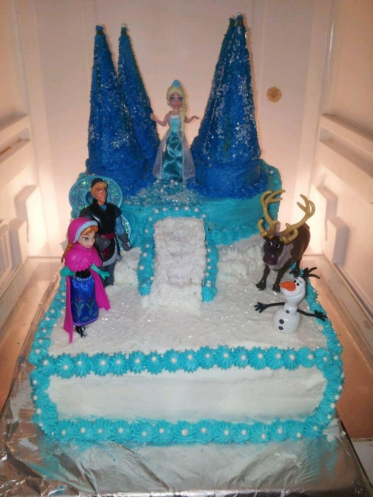 Homemade Disney Frozen Cake 2 9x13 2 10in Round One
