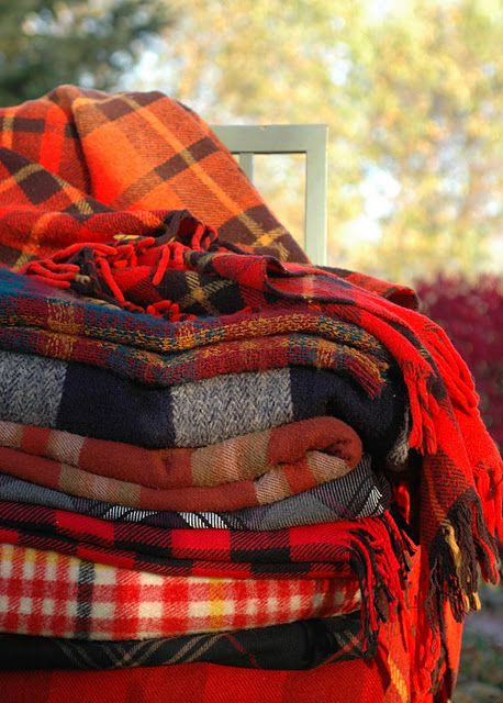 Plaid has a warm cozy feel to it. Perfect for fall in blankets, flannels, anything!