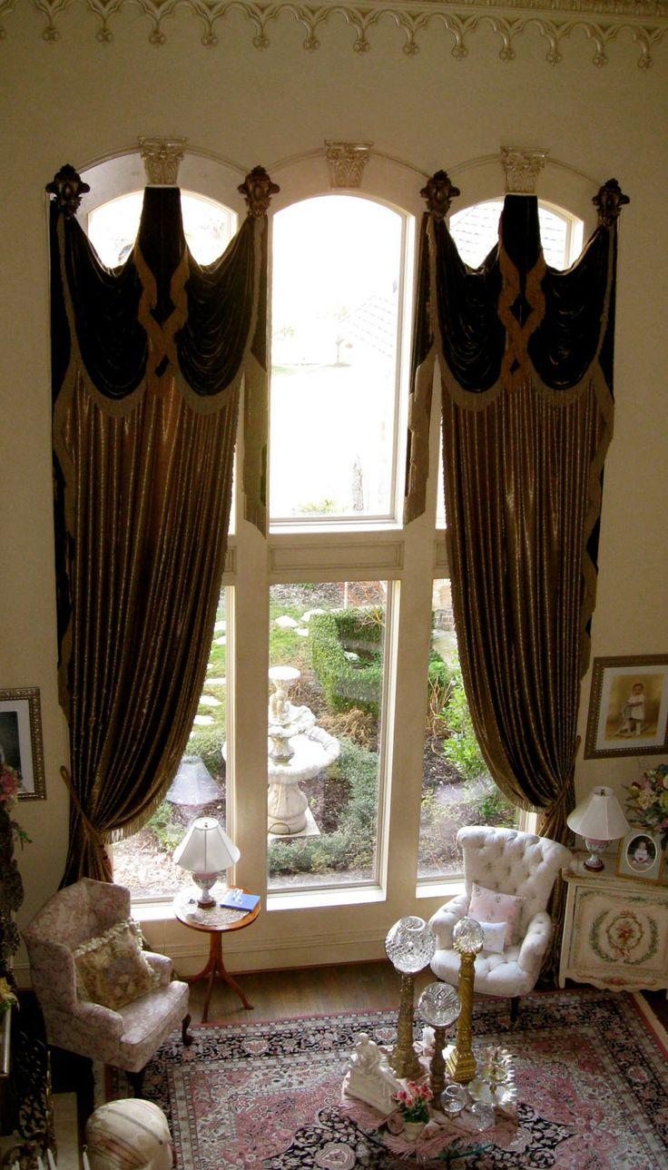 Grandeur Designs Love The Window Treatments Old