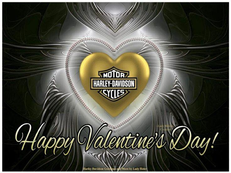 Happy Valentines Day Harley Davidson Pinterest