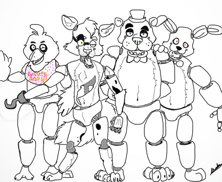 five nights at freddys bonnie coloring pages coloring