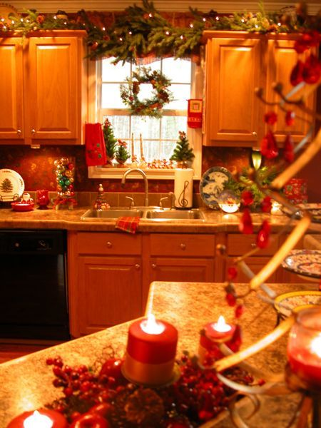 who says holiday decorating is only for the living room my kitchen is equally decorated there on kitchen cabinets xmas decor id=40700