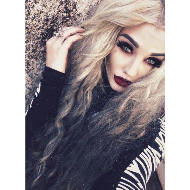 Blonde Hair Vampire Makeup