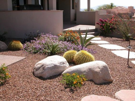desert walkway ideas | Several great for backyard desert ... on Backyard Desert Landscaping Ideas On A Budget  id=41722