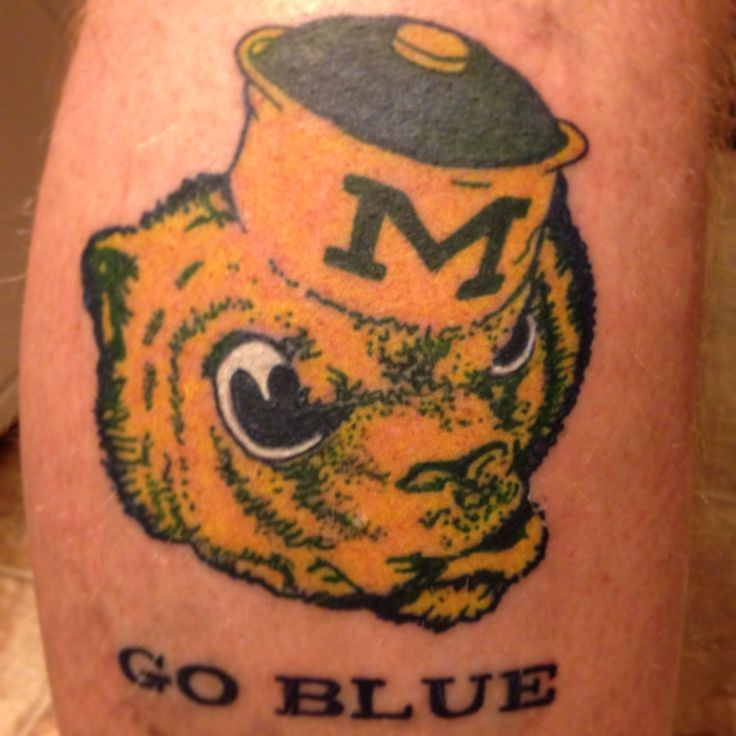 A Nice Throwback Michigan Wolverines Tattoo Maize Amp Blue