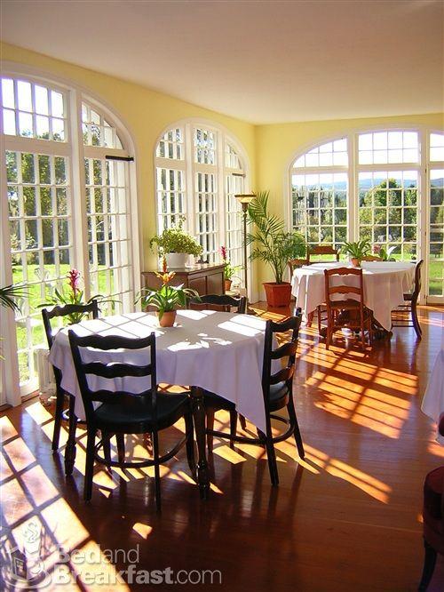 Stunning, sun-filled breakfast room in warmer months ...