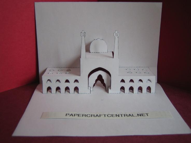Kirigami Masjid I Jami Cards Pop Up Pinterest