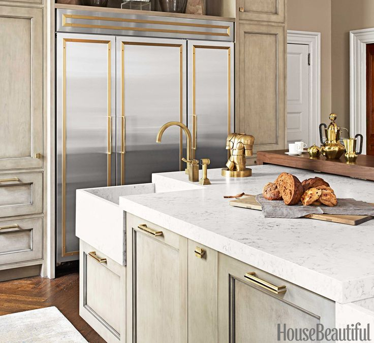 the right mix of feminine and masculine kitchens on kitchen cabinets gold hardware id=43863