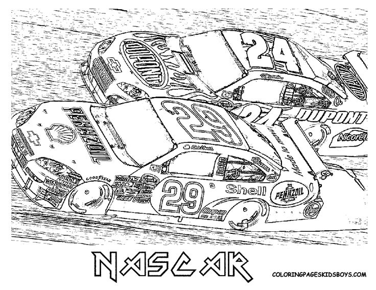 nascar coloring pages  free nascar coloring pages ~ the