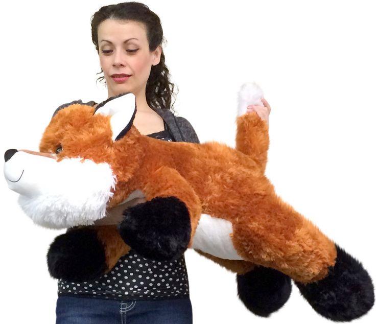 Huge Stuffed Fox 36 Inches Soft Big Plush