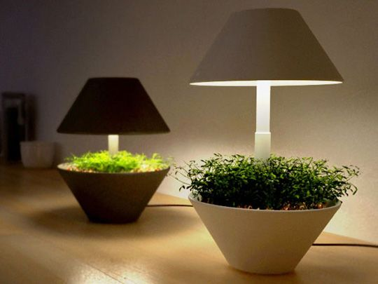Lightpot. Its a small pot that can be used to grow plants and herbs indoors. The pot uses LED lighting to make sure that the