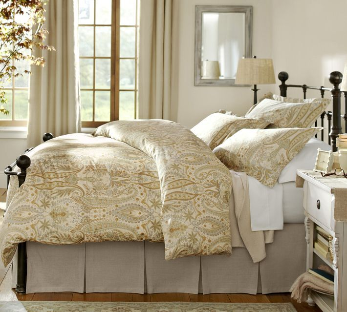 Pottery Barn Mendocino Bed Decor Pinterest Beds