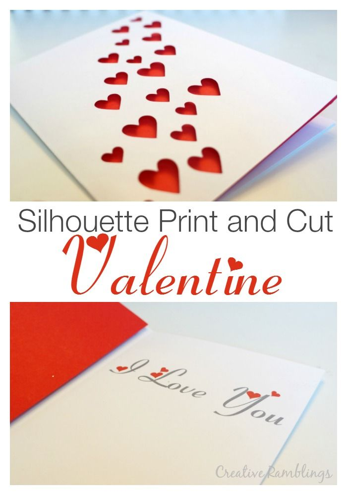 Silhouette Print And Cut Valentine Card A Simple And Easy