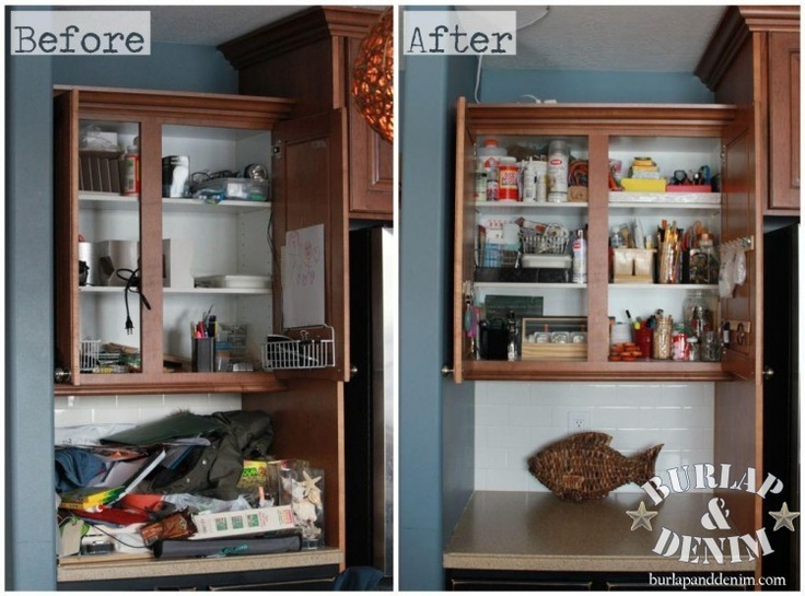 top 25 ideas about organizing before after on pinterest closet organization small kitchens on kitchen organization before and after id=85291