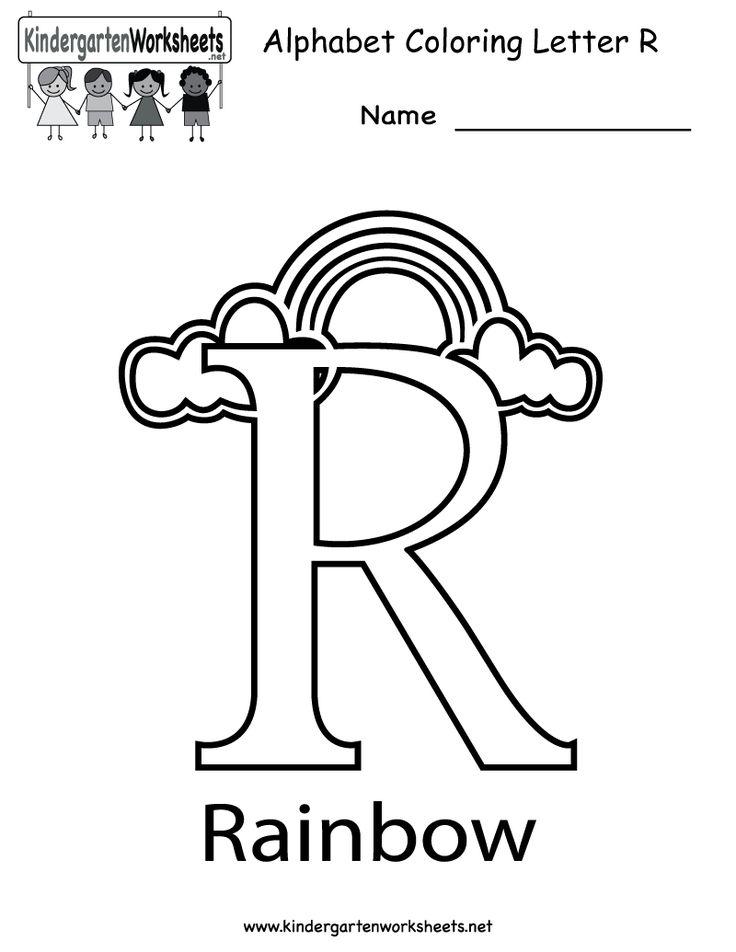 kindergarten letter r coloring worksheet printable great
