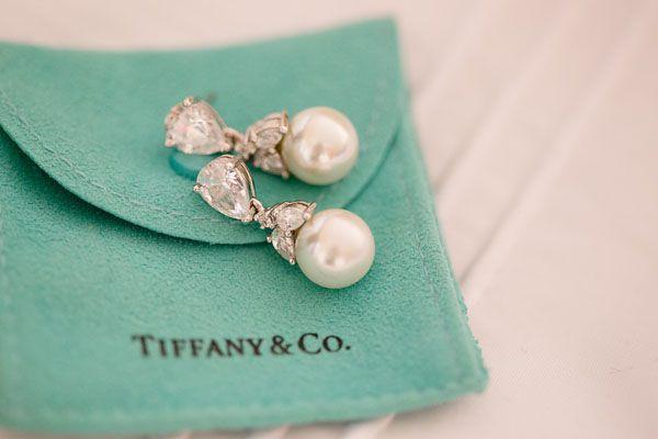 Beautiful diamond and pearl drop earrings from #Tiffany. Photo by Adriana Klas Photography