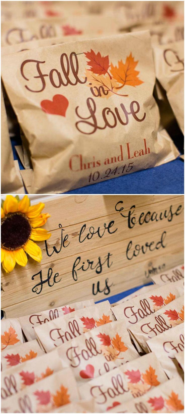 October Wedding Favors
