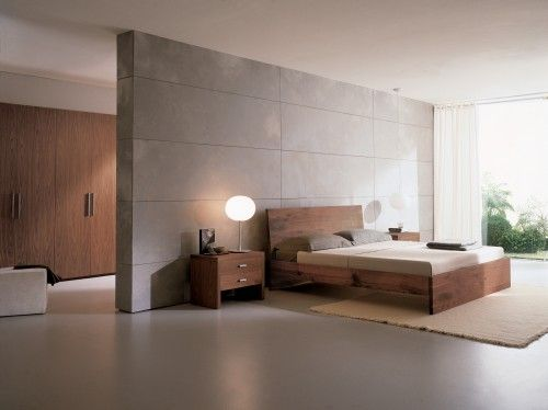 Like This Idea For Separating The E Would Rather Floating Wall Not Bedroom Ideas Master Modernminimalist